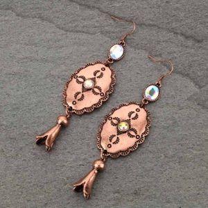 Western Concho Fish Hook Earrings